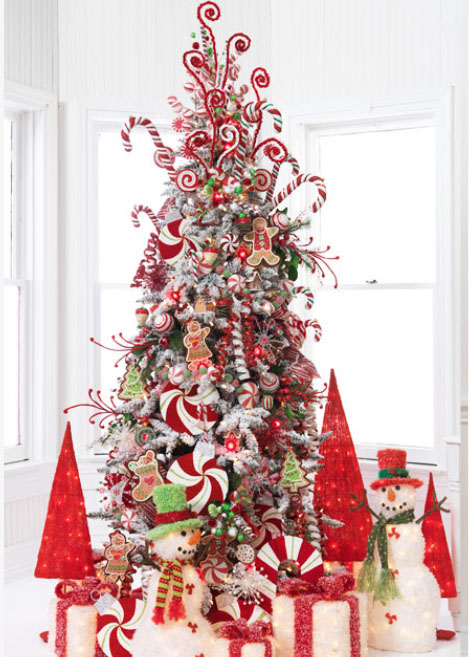 raz peppermint kisses christmas tree decorating idea - Peppermint Christmas Decorations
