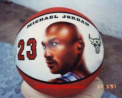 michael jordan tattoos. He airbrushed Michael Jordan