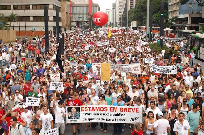 Mobilização na Av. Paulista