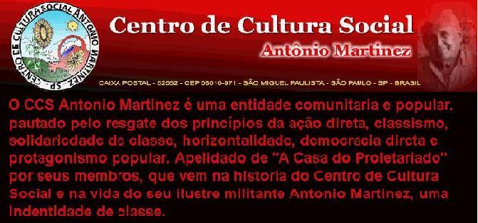 CENTRO DE CULTURA SOCIAL ANTÔNIO MARTINEZ