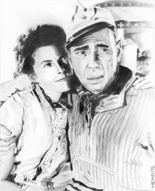 """Humphrey Bogart et Katharine Hepburn dans """"African Queen"""" de John Huston"""