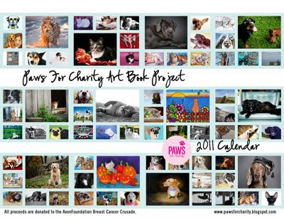 I have received my test copy of the 2011 Paws For Charity calendar and it is