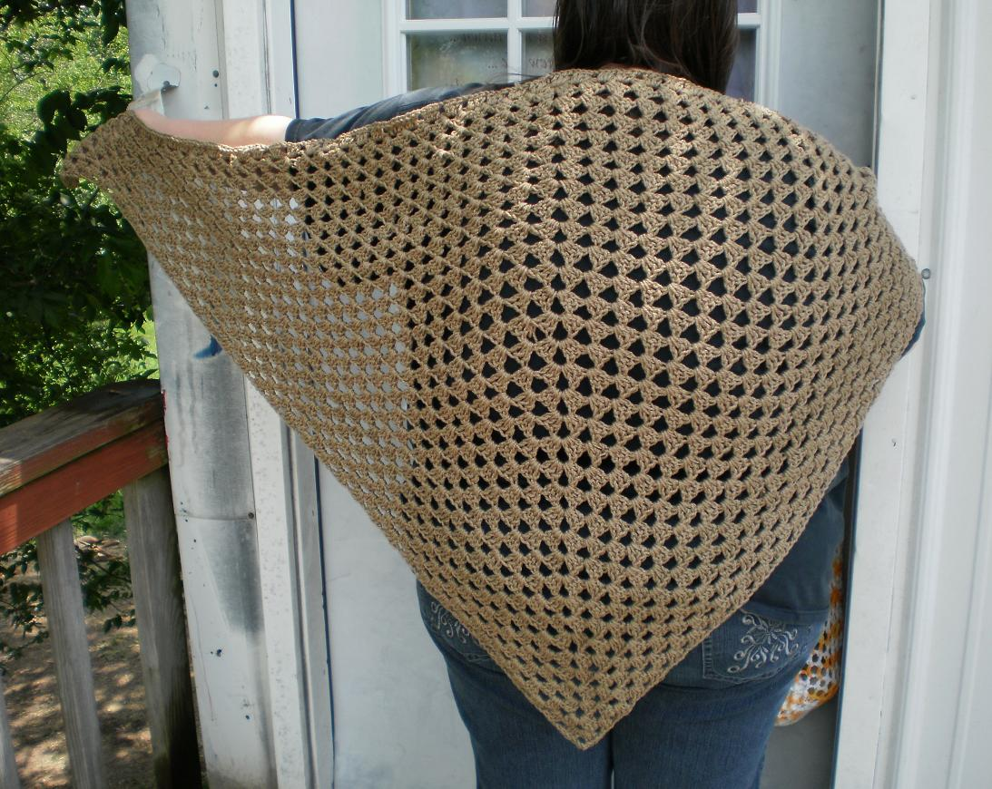 The Left Side of Crochet: Civil War Era Shawl