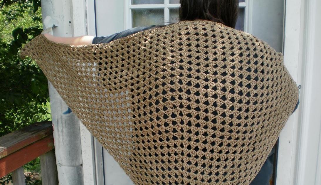 The Left Side Of Crochet Civil War Era Shawl