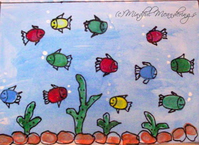 Finger painting aquarium