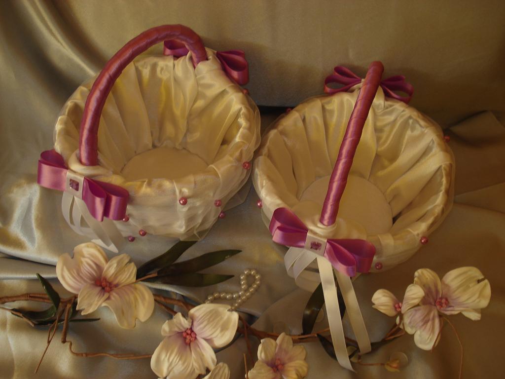 Свадебные корзинки для лепестков роз своими руками 58