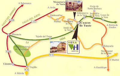 Mapa de Monasterio de Yuste