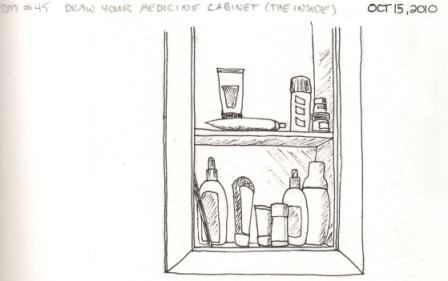 EDm #45   Draw Your Medicine Cabinet (The Inside)