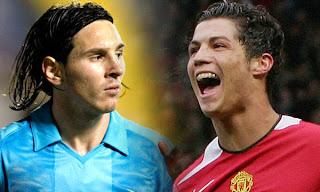 Messi y Cristiano Ronaldo