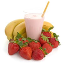 strawberry banana smoothie large Athlete's Plate – January 27, 2011