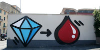 Bros, graffito, diamante, sangue