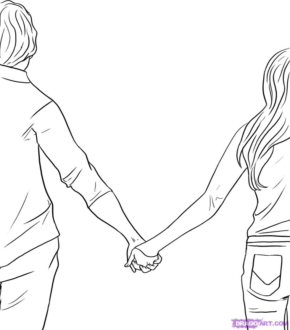 Wednesday  February 9  2011Holding Hands Love Sketch