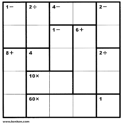photo relating to Kenken Printable named sudoku very simple printable: Shortz Provides Kenken Site Calendar