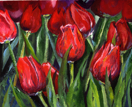 'Red Tulips' Flower oil