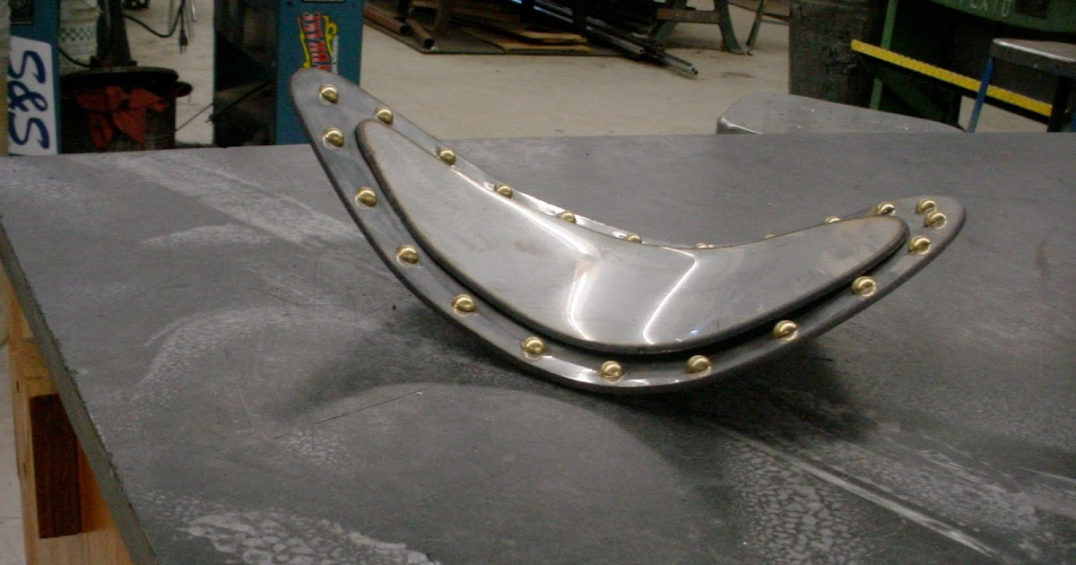 Antique Universal Steel Seat Pan : Vintage bike addiction stainless steel riveted seat pan