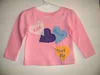 pink candy conversation heart toddler tshirt