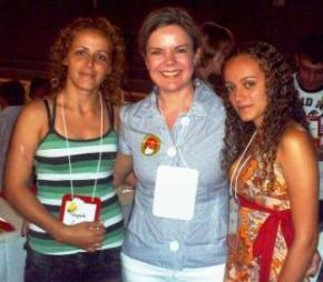 MARGARETE, MINISTRA CHEFE DA CASA CIVIL GLEISI E FLÁVIA