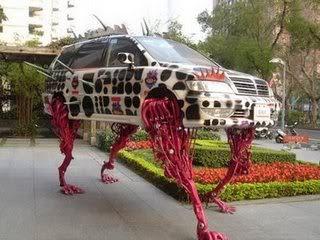 car with leg