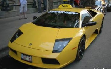 lamborghini be TAXI car