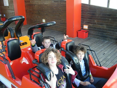 Sam, Luke, and Liam on Coaster