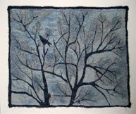 Longing, Linen, Silk, and Thread, 2010, $350