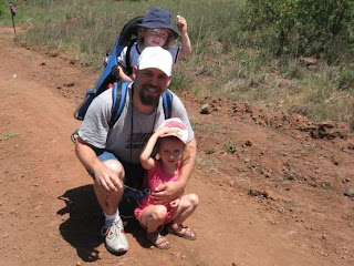 Shmuel, Hadas, and Natan on the Golan Trail