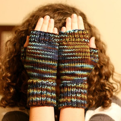 Inspired Fast Easy Fingerless Mitts V2 Circular