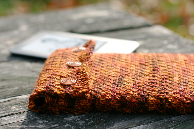 Inspired Free Pattern Slipped Stitch Kindle Cozy