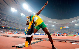 Usain Bolt at 2010 Delhi Commonwealth Games