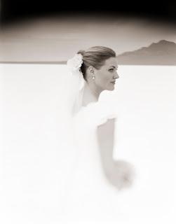 Brandon Allen Photography - Black and White Bridal Portraits - Salt Flats Utah