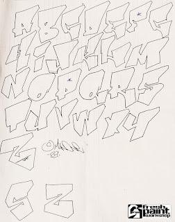 Graffiti Alphabet Letter A-Z