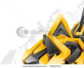 Arrow Digital 3D Graffiti Alphabet Yellow Black Style