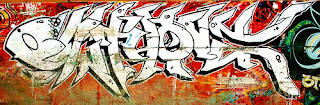 White and Black Fonts Style Graffiti Tagging