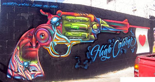 Gun Graffiti Tagging