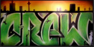 Cool Graffiti Alphabet Bubble Green Fonts Color