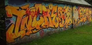 Orange Street Art Graffiti Tagging