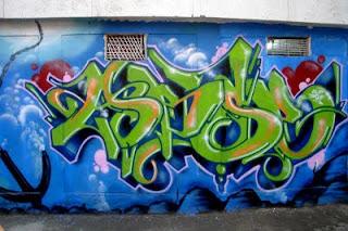 Graffiti Alphabet Bubble Green Style Color