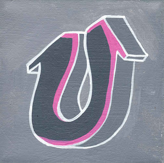 Graffiti Alphabet Sketches Letter U