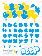 Graffiti Fonts AZ Alphabet Bubble is one form of graffiti alphabet bubble .