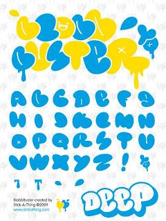 Graffiti Alphabet Bubble AZ Fonts