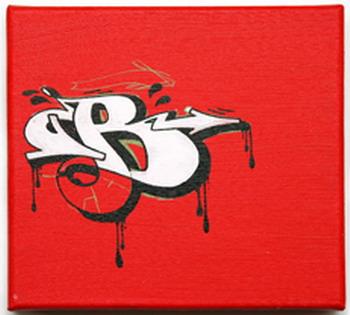 graffiti letter b bubble design
