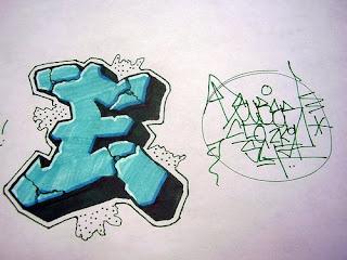 Graffiti Letter E 3D