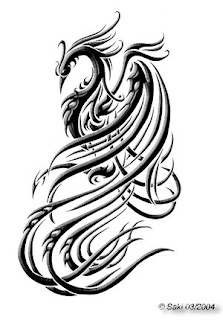 Phoenix Tribal Tattoo Sketches Design