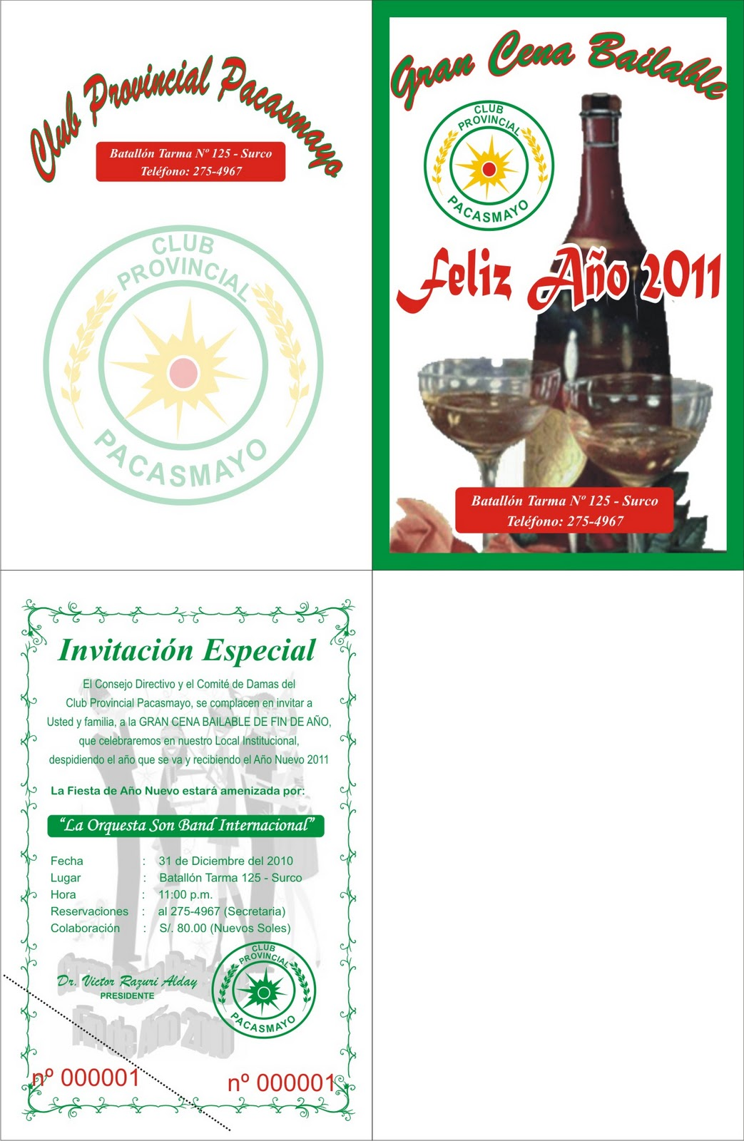 Notas de Prensa: INVITACION A FIESTA DE FIN DE AÑO