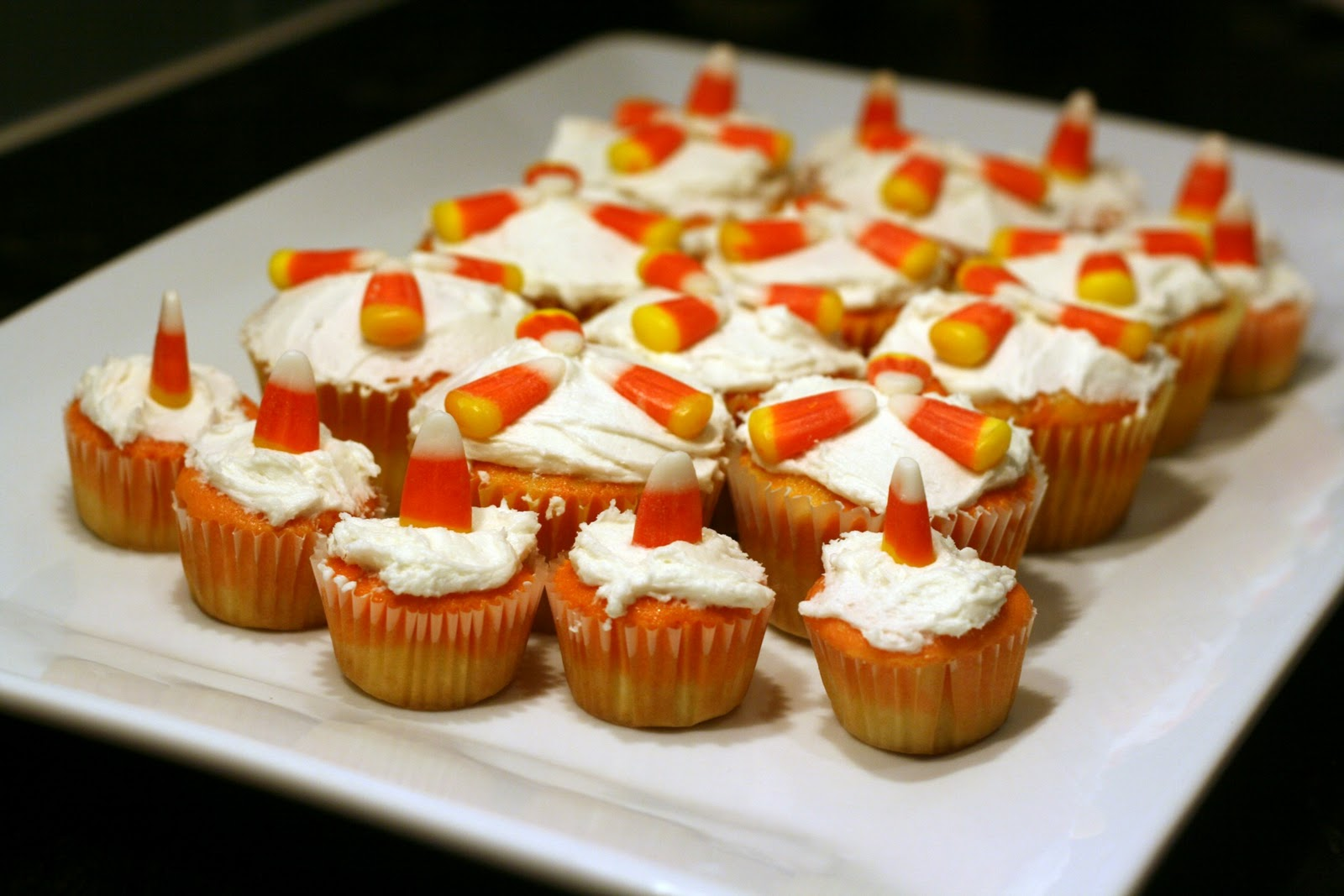 So Tasty So Yummy: Candy Corn Cupcakes