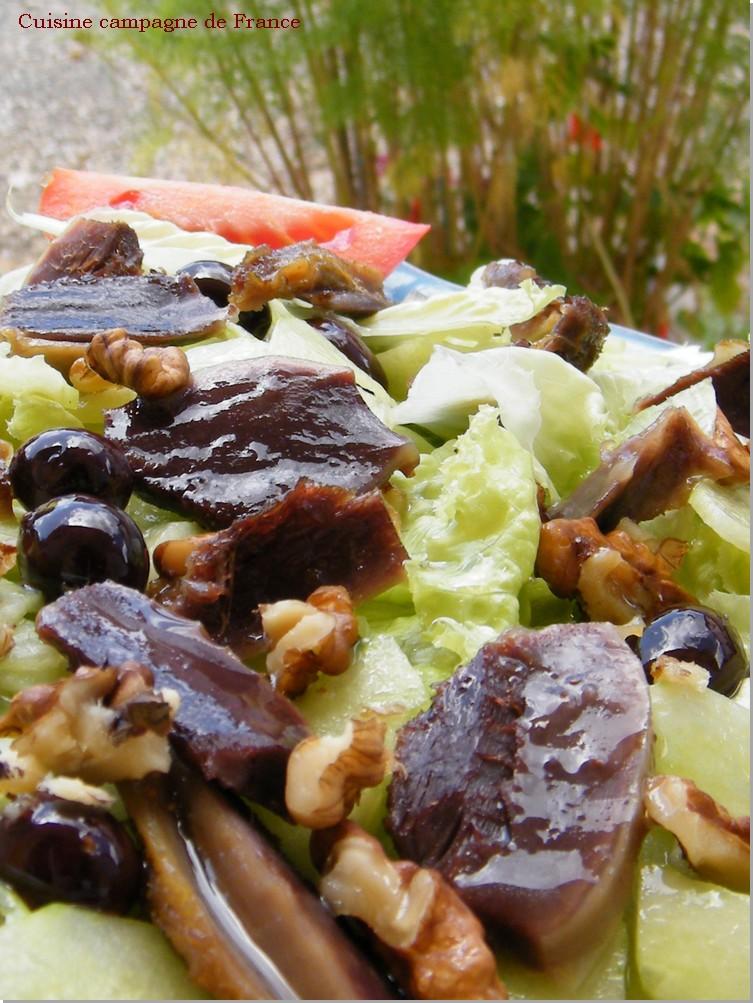 cuisine et campagne de france salade aux g siers de canards confits. Black Bedroom Furniture Sets. Home Design Ideas