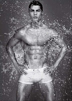 Cristiano Ronaldo for Armani underwear wet shower