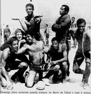 Flamengo na Barra em 1970
