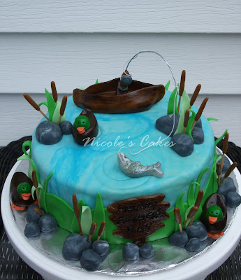 On birthday cakes 39 gone fishing 39 father 39 s day cake for Fishing cake ideas