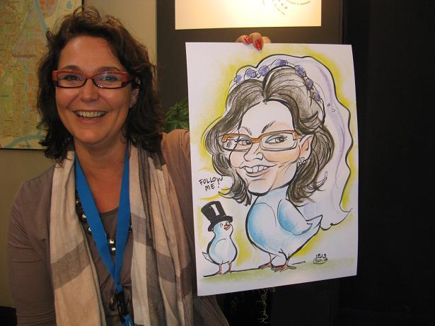 Twedding karikatuur Jannetta Dorsman @JanDor